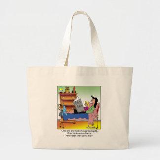 Girls, Sugar, Spice & Dentists Large Tote Bag