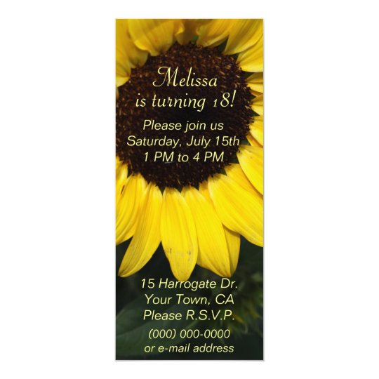 Girls Sunflower Birthday Card