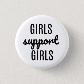 Girls Support Girls button