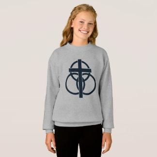 Girl's Sweatshirt: Modern Logo Sweatshirt