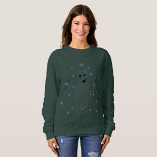Girls Sweatshirt polar bear Forest Green custom