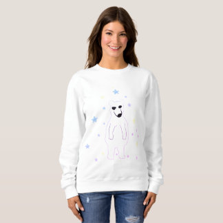 Girls Sweatshirt polar bear white snowflakes