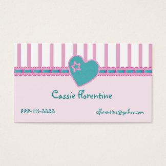 Girl's Sweet calling Card