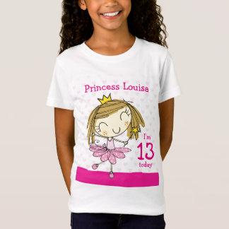 GIRLS T-SHIRT Age 13 princess 13th Birthday