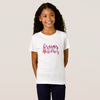 Girls T-Shirt, First Day of School, Brains & Bows T-Shirt