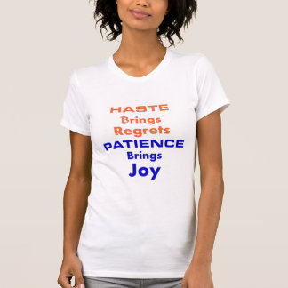 Girls T-Shirt For Patience