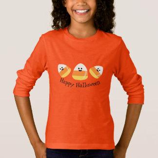 Girls T-Shirt-Halloween Candy Corn T-Shirt