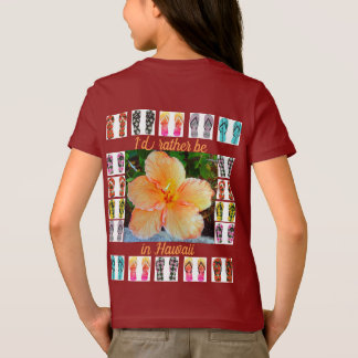 Girls T-Shirt, Hawaiian Tapestry T-Shirt
