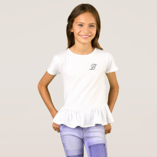 Girls T-shirt Letter B