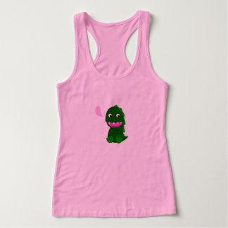 Girls t-shirt pink with Little green Dino