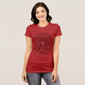 Girls t-shirt red with mandala