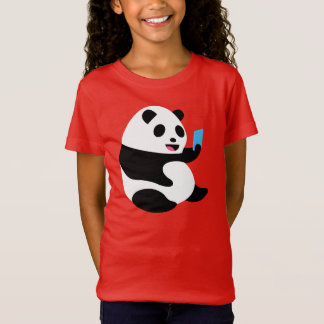 "Girl's T-Shirt: ""Selfie Panda"" T-Shirt"