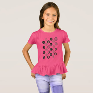 GIRLS t-shirt with black dots