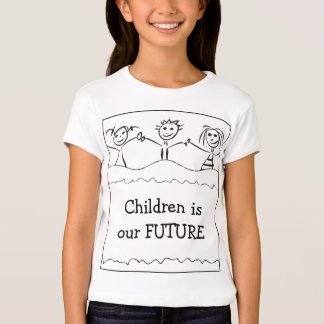 girl's t-shirt with children drawing