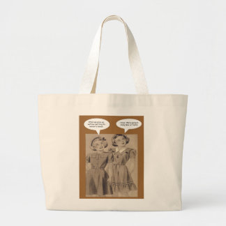 Girls taking on Trump Large Tote Bag