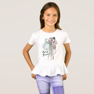 Girls taking selfie in Paris Ruffle T-Shirt