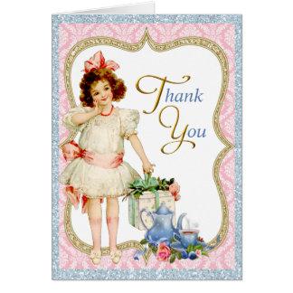 Girls Tea Party Thank You Card