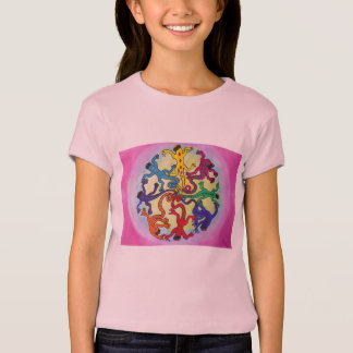 Girls Tee Shirt -Circle of Lizards