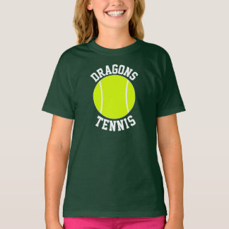 Girls' Tennis Custom Team Name or Text T-Shirts