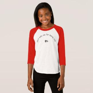 Girls three quarter T-shirt saves/black/white