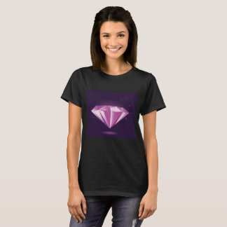 Girls tshirt black with diamond