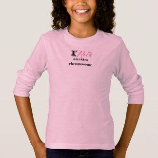 "Girls Tshirt ""I rock an extra chromosome"""