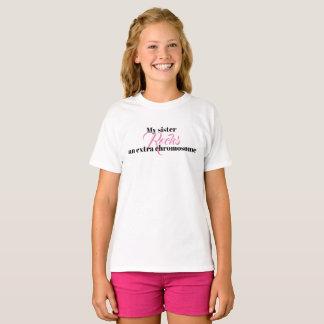 "Girls Tshirt ""My sister rocks an extra chromosome"