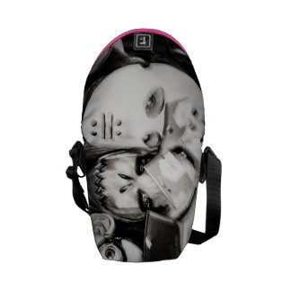 girls under mask courier bags