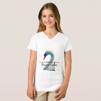 Girls V-Neck Swan Lake Shirt