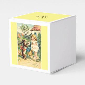 Girls Vintage Easter Bunny Favor Boxes