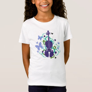 Girls Violin Flutter Fly T-Shirt