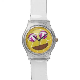 girls' volleyball emoji smiley face watch
