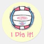 Girls Volleyball Gear by Mudge Studios Sticker
