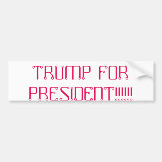 girls vote foe trump too bumper sticker