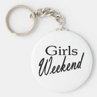 Girls Weekend Basic Round Button Keychain