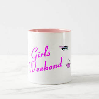 Girls Weekend (Face) Two-Tone Coffee Mug