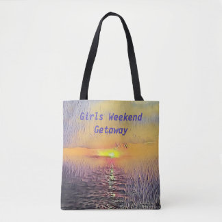 """Girls Weekend Getaway"" Seascape Sunrise Tote Bag"