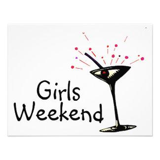 Girls Weekend (Martini 1) Custom Invitations