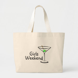 Girls Weekend (Martini 2) Large Tote Bag