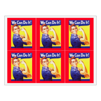 Girls Weekend Night Out Rosie the Riveter Labels