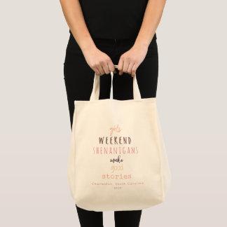 Girls' Weekend Shenanigans Customizable Tote Bag