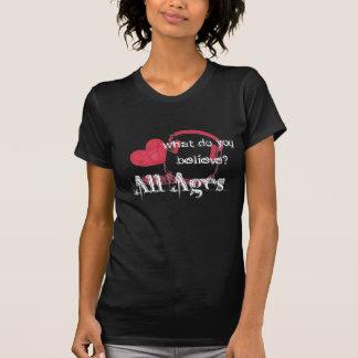 Girls- What Do You Believe? - Customized Tee Shirts