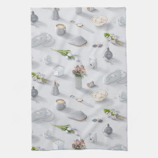 Girl's White Dream Hand Towel