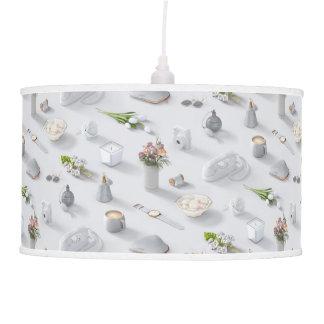 Girl's White Dream Hanging Lamp