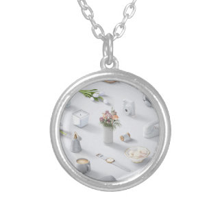 Girl's White Dream Silver Plated Necklace