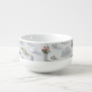 Girl's White Dream Soup Bowl With Handle
