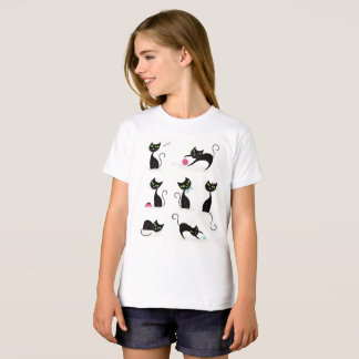 Girls white t-shirt with Kittens