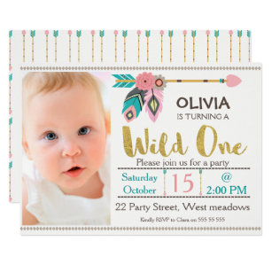 1st birthday invitations announcements zazzle ca