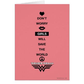 Girls Will Save The World Wonder Woman Graphic Card