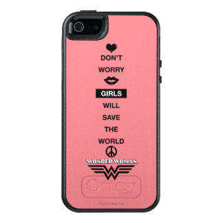 Girls Will Save The World Wonder Woman Graphic OtterBox iPhone 5/5s/SE Case